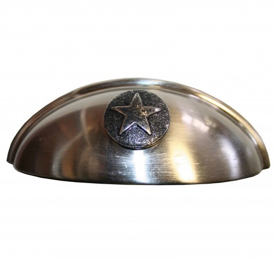 Silver Star Cup Furniture Or Cabinet Pull